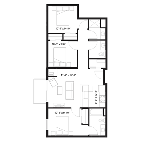 Ares floor plan thumbnail
